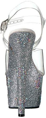 Glitter Sandale Femmes Pleaser Clr Blk Slv Glitter 708star Clr abrs abrs De Adore rfqpaPwFr