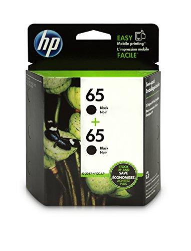 HP 65 Black Original Ink Cartridge (N9K02AN), 2 Cartridges (1VU22AN) for HP DeskJet 2624 2652 2655 3722 3752 3755 3758 by HP
