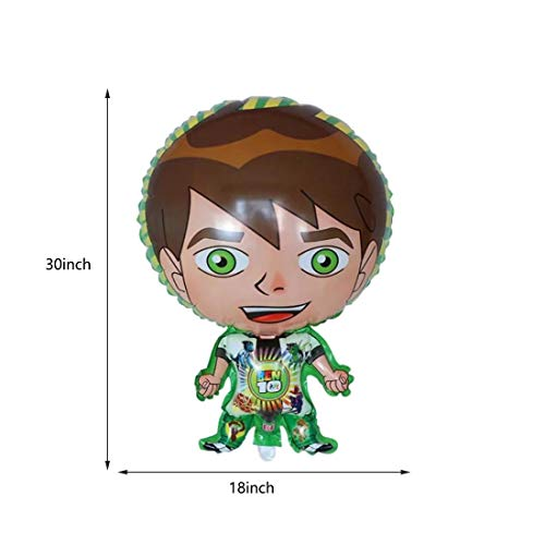 6 pcs Ben10 Balloons Ben10 Party Supplies Kids Baby Shower Party Decorations