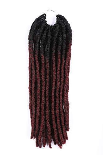 6Pcs/Lot 14inch Gypsy Locs Crochet Twist Soft Synthetic Braiding Hair Extension Faux Locs Havana Mambo Twist Hair Extension 36 Roots (14inch(6PACKS), OT99J#)