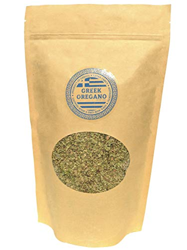 Oregano 100% Authentic Dried Greek Oregano leaves | Fresh Aromatic Herb & Spice | 8 OZ Reusable and Resealable ()