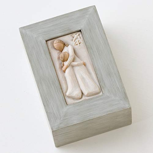 Willow Tree Mother and Daughter, sculpted hand-painted memory box