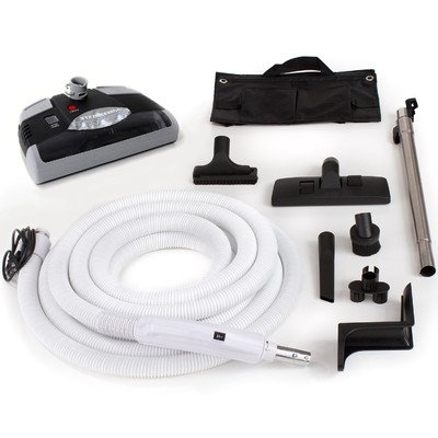 35 Ft Central Vacuum Kit with Carpet Power Head, Hose and Tool -  GV, gv1b-black35