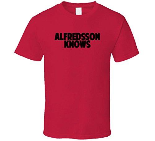 Daniel Alfredsson Knows Ottawa Hockey Player Sports Fan T Shirt 2XL Red - Daniel Alfredsson Player