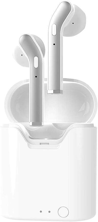 Muonve Auriculares inalámbricos Bluetooth 5.0 para Deportes intraurales, Auriculares estéreo con micrófono IPX67, Impermeable, emparejamiento automático