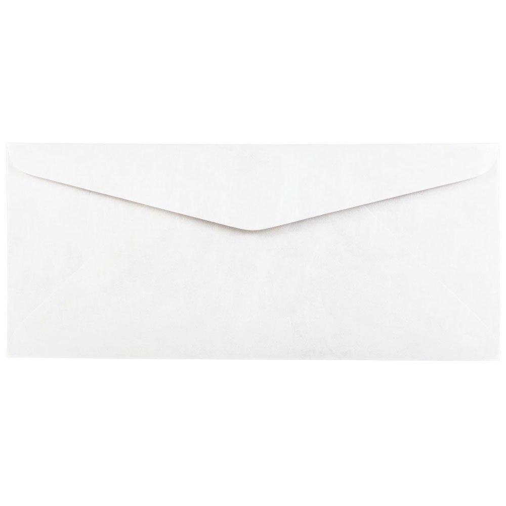 JAM Paper #10 Business Tyvek Envelope - 4 1/8'' x 9 1/2'' - White - 500/box