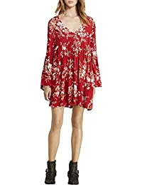 Ralph Lauren Floral-Print Bell-Sleeve Dress Floral Multi M