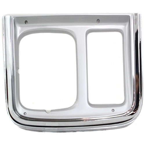 Evan-Fischer EVA18972010920 Headlight Door for Chevrolet Van Full Size 85-91 RH With Single Headlamp With Trim Chrome Right Side -