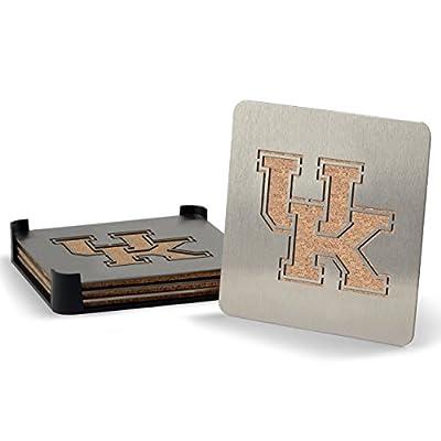 NCAA Kentucky Wildcats Boasters, Heavy Duty Stainless Steel Coasters, Set of 4