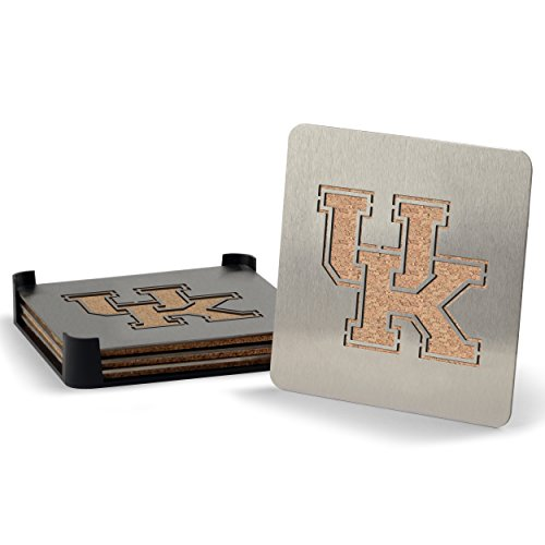 Wildcats Desk Ncaa (YouTheFan NCAA Kentucky Wildcats 4-Piece Stainless Steel Boaster Drink Coaster)