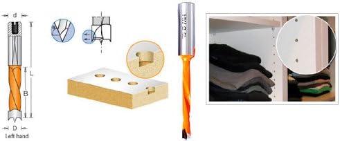 Amana Tool Boring Bit L//H 9mm Dia x 77mm Long x 10mm Sh 302090 Carbide Tipped Brad Pt