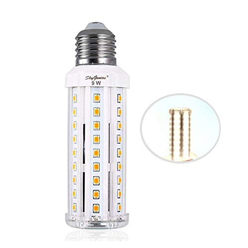 9W Daylight LED Corn Light Bulb -E26 Standard Socket 950Lm 6500K Cool White,for Indoor Outdoor Home Decorative Chandelier Ceiling Pendant Wall Table Floor Lighting Lamp Kitchen Bathroom Fixture Bright