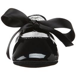 Ralph Lauren Layette Briley Ballet Crib Shoe (Infant/Toddler),Black Patent,1 M US Infant