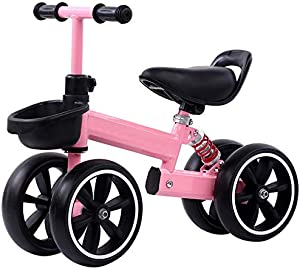Kids Balance Bike Kesida Children Walking Training Scooter Bicycle Without Pedal Footrest for 2 to 6 Years Old Kids and Toddlers(Pink)