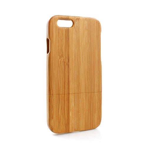 System-S Bambus Holz Tasche Cover Schutzhülle Protector Case Etui für iPhone 6