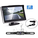 Backup Camera and Monitor Kit,Waterproof Night Vision Rear View Camera Single 5 inch