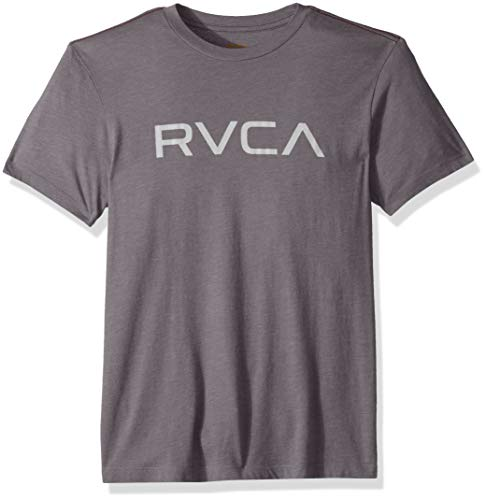 RVCA Men's Big Short Sleeve Crew Neck T-Shirt, Smoke Purple, S (Shirt Rvca Crew)