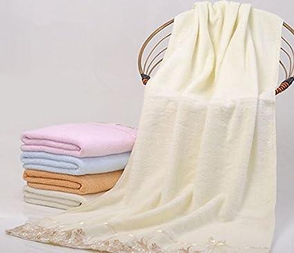 X & L Pure algodón de toallas de baño de hilo de encaje encaje par sin