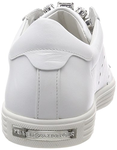 Zapatillas Town Kennel und Wei Weiss Mujer Schmenger Bianco 617 Crystal para Sohle 44ZHqFw