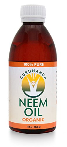 Neem Oil - 8 Oz 236 ml - Certified Organic - 100% Pure - By GuruNanda
