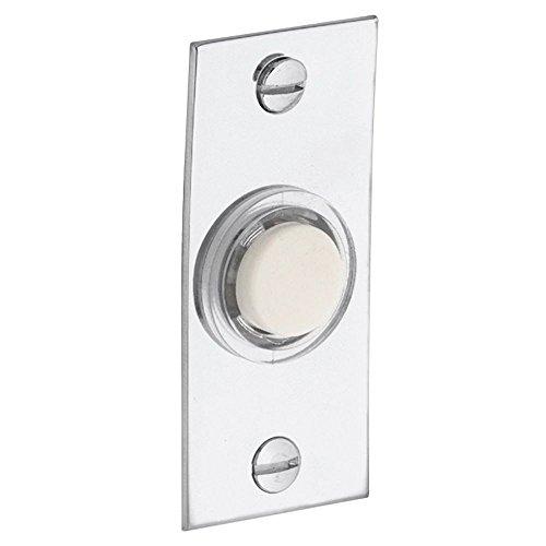 Baldwin 4853260 Rectangular Bell Button, Bright Chrome ()