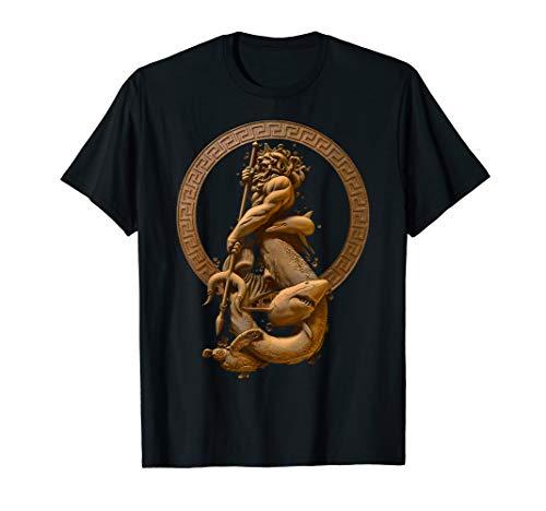 Greek God Clothing (Poseidon god of the sea Greek Mythology Tshirt with a)