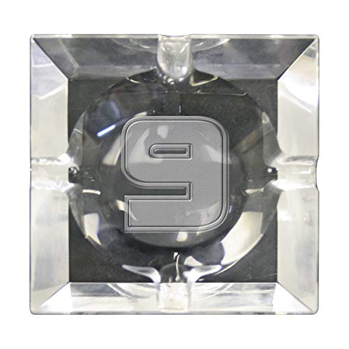 - Waterfall Collection Lucky Number Laser Etched Crystal Ashtray (Lucky # 09)