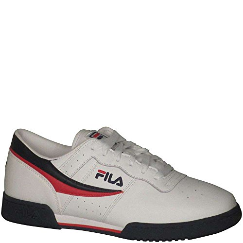 Fila Men's Original Vintage Fitness Shoe,White/Navy/Red,11 M