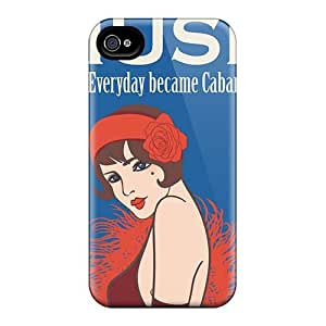 Protector Hard Phone Cases For Iphone 4/4s (SiI14556KeLZ) Customized Nice Muse Series