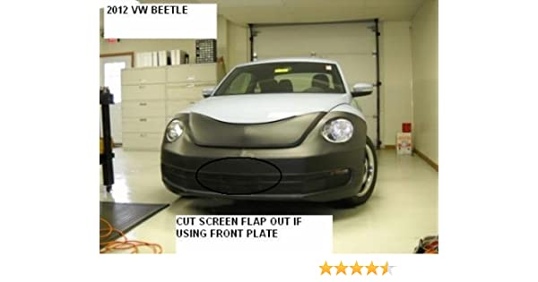 VOLKSWAGEN VW BEETLE 2012-2014 R-Line /& GSR. Lebra 2 piece Front End Cover Black Fits Car Mask Bra Except 2.0 Turbo Conv