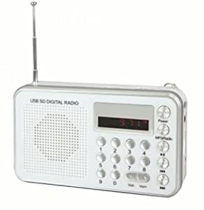 Soundmaster TR150WS - Radio (Portátil, Digital, FM, 11,8 cm, 2,6 cm, 7,4 cm) Color blanco