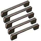 FirstDecor 5pcs Stainless Steel Retro red Kitchen Cabinet Door Handle, 160mm,Cupboard Drawer Bedroom Furniture Handles, Bar Drawer Furniture Pull