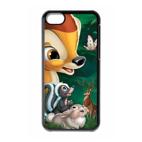 Bambi coque iPhone 5C Housse téléphone Noir de couverture de cas coque EBDOBCKCO10441