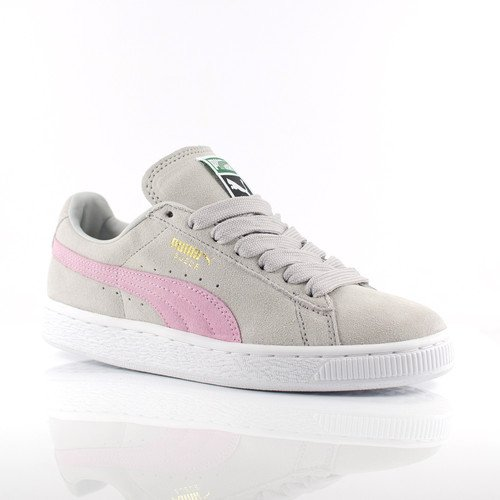 meet eef2b f9513 Womens Puma Suede Classic Trainers (UK 3, Grey Violet   Pink Lady)   Amazon.co.uk  Shoes   Bags