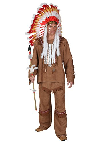Ewok Wicket Costume (Fun Costumes Plus Size Deluxe Mens Indian Costume 4x)