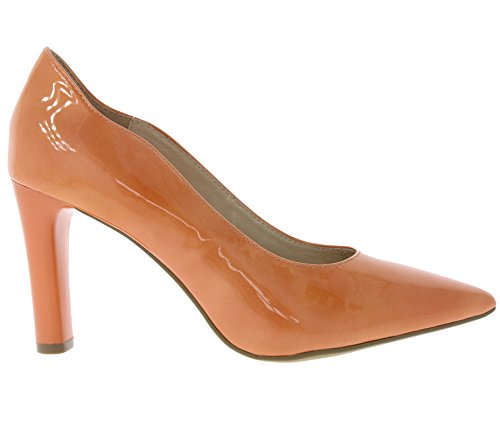 22402 Orange Femme Escarpins Caprice Noir SxCwa7RqR