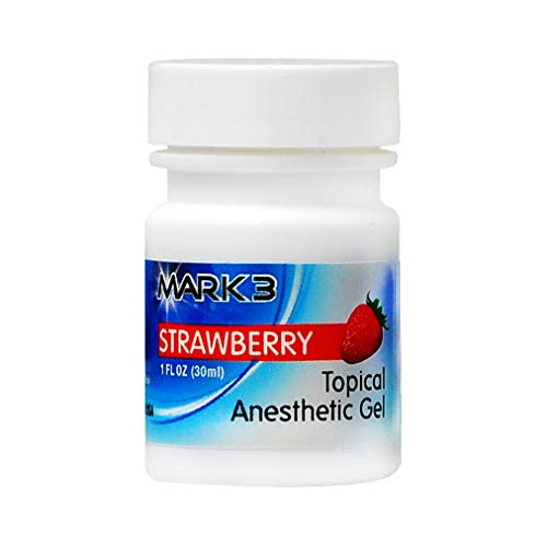 - Mark3 Dental Oral Topical Anesthetic Gel 1 Oz - Strawberry (20% Benzocaine)