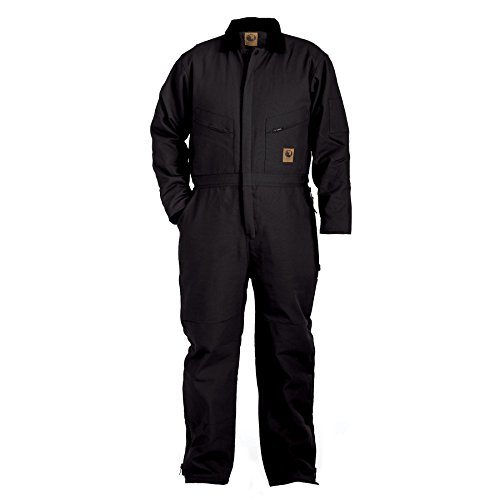 Berne Men's Duck Deluxe Insulated Coveralls Big 5XL and 6XL Black 5XL ()
