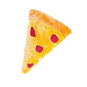 ZippyPaws Squeakie Emojiz Squeaky Plush Dog Toy (Pizza Slice)