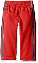 adidas Toddler Boys' Tricot Pant, Light Scarlet, 2T