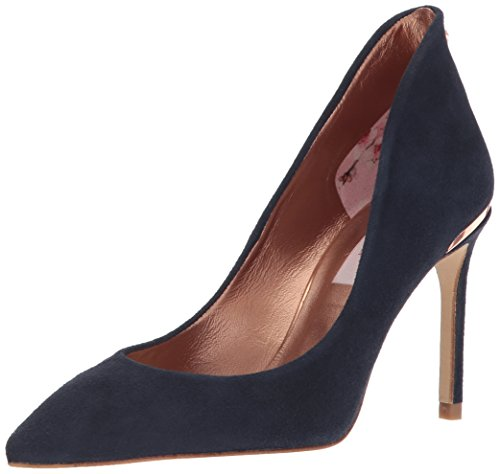 Ted Baker Women's Savio 2 Pump, Navy, 8 B(M) (Smooth Point Toe Pump)