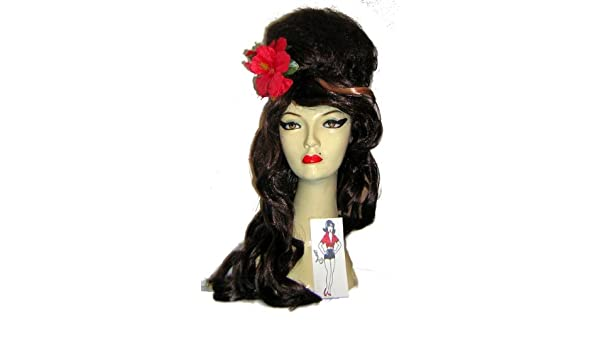Amy Winehouse Fancy Dress Kit, Wig Flower & Tattoo (peluca): Amazon.es: Juguetes y juegos