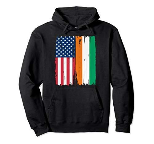 - USA Ivory Coast Flag Hoodie