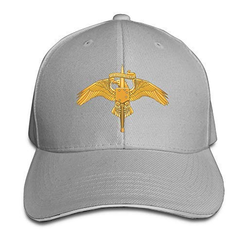 USA Marine Corps Forces Special Operations Command (MARSOC) Adjustable Baseball Caps Vintage Sandwich Hat Natural -