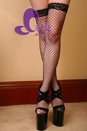 狠狠瑟丝袜_慕瑟muse 黑色网格诱惑硅胶防脱落性感丝袜美腿网袜