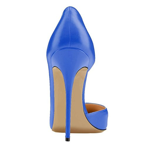 Calaier Damen Cadislike 12CM Stiletto Schlüpfen Pumps Schuhe Blau