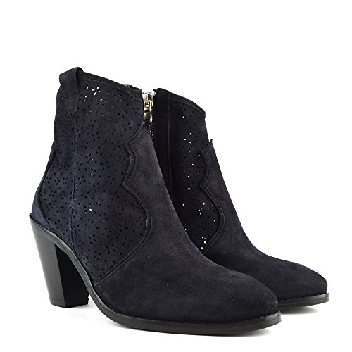Lila B Cut Elia Ankle Boot Suede Navy Shoes Navy Laser wFBEB7