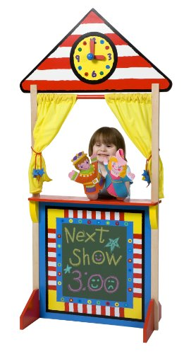 ALEX Toys Floor Standing Puppet Theater with Clock