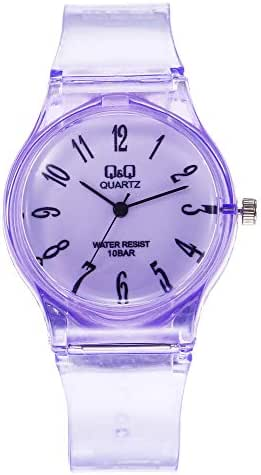LUXISDE Women's Wrist Watches ABC Transparent QQ Watch Student Harajuku Watch Pure Color Delicate Carry NA4605 79