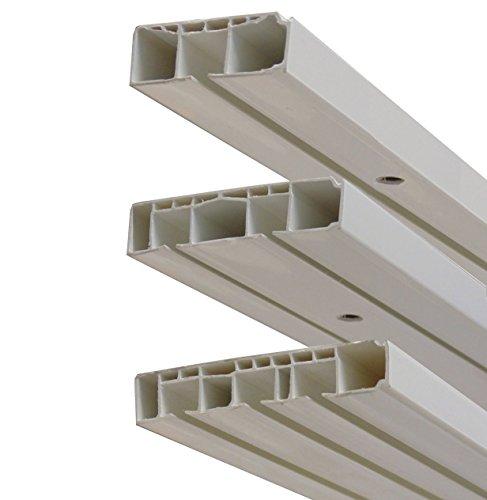 GARDUNA # Enddeckel - Paar - 1-läufig # für Kunststoff Gardinenschiene Vorhangschiene, (1-/ 2-/ 3-läufig, Kunststoff, weiss)